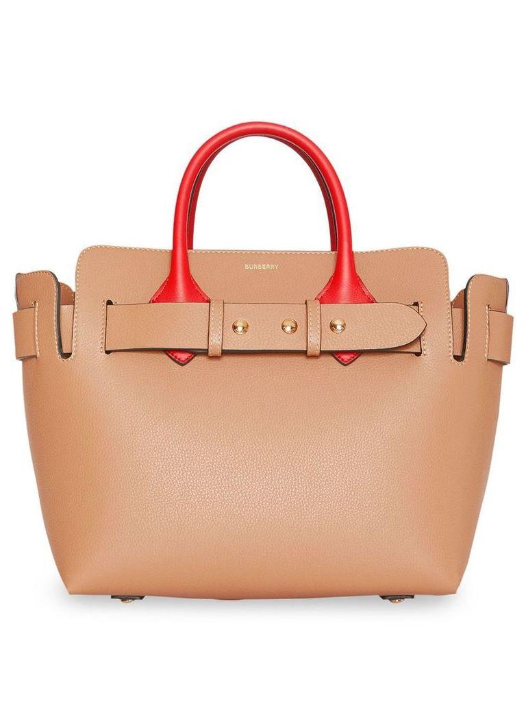Burberry The Small Tri-tone Leather Triple Stud Belt Bag - Neutrals