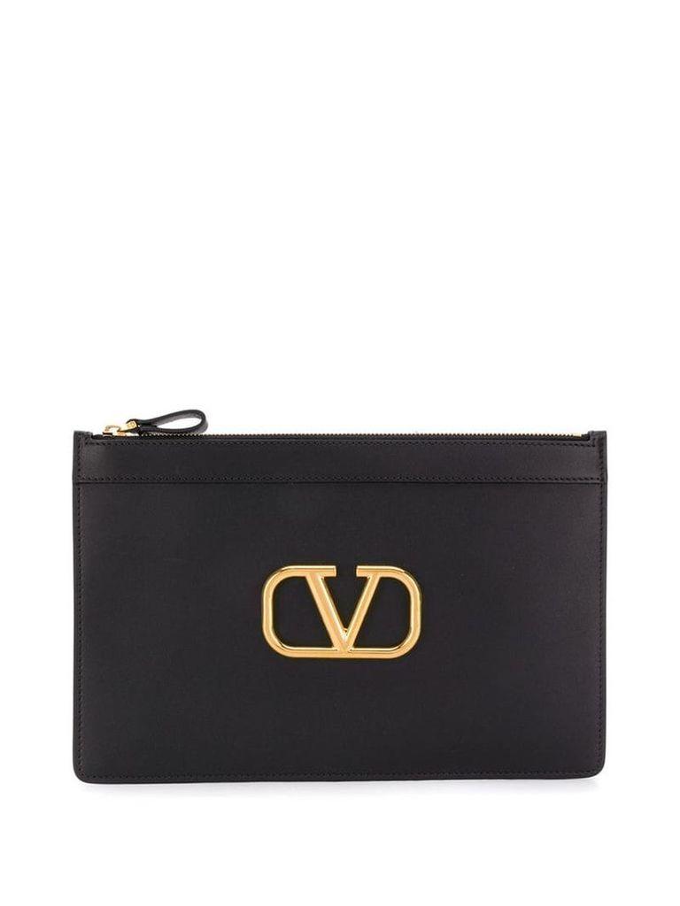 Valentino Valentino Garavani VLogo clutch - Black