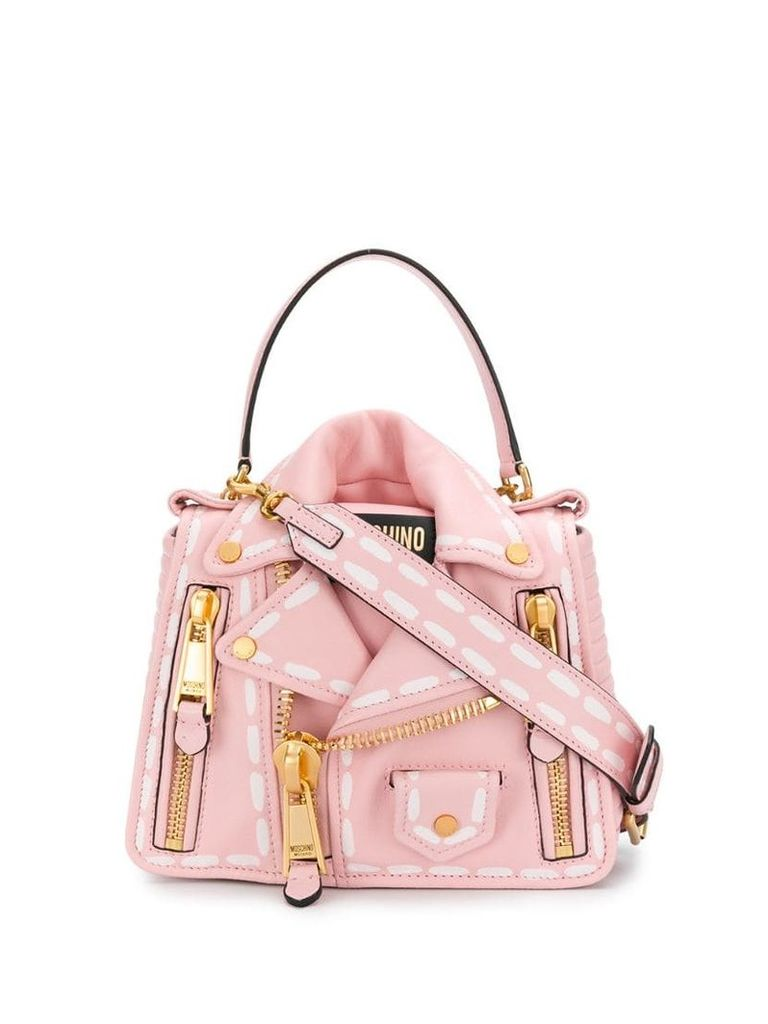 Moschino biker shirt bag - Pink