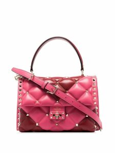 Valentino pink Garavani Candystud quilted-leather shoulder bag - Red
