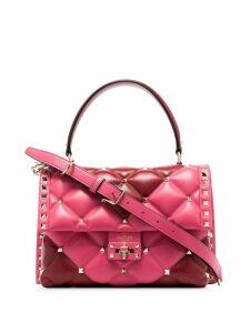 Valentino pink Garavani Candystud quilted-leather shoulder bag - Red