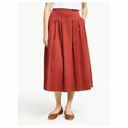 Boden Theodora Pleat Skirt, Conker