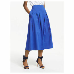 Boden Theodora Pleated Midi Skirt, Cobalt