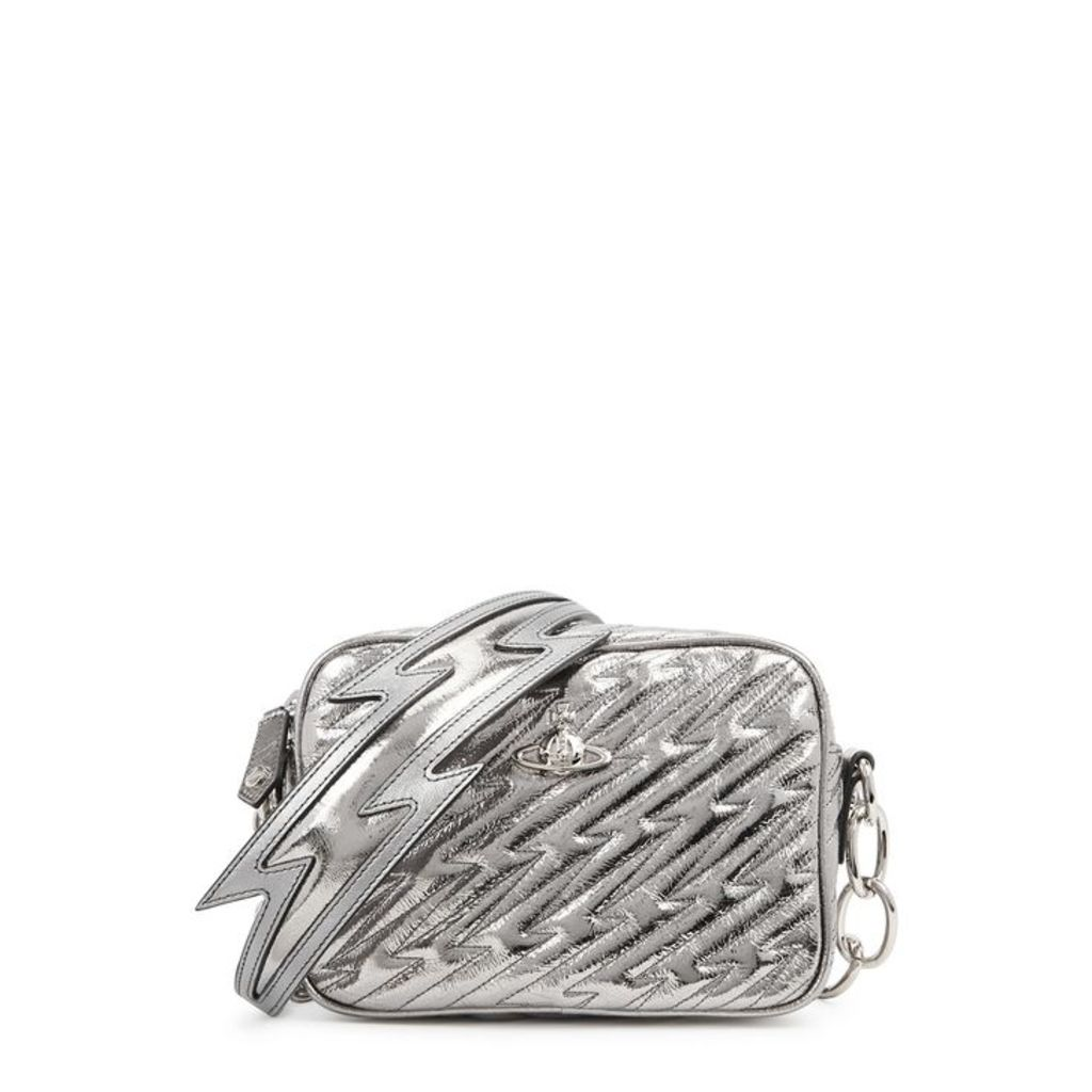 Vivienne Westwood Coventry Silver Leather Cross-body Bag