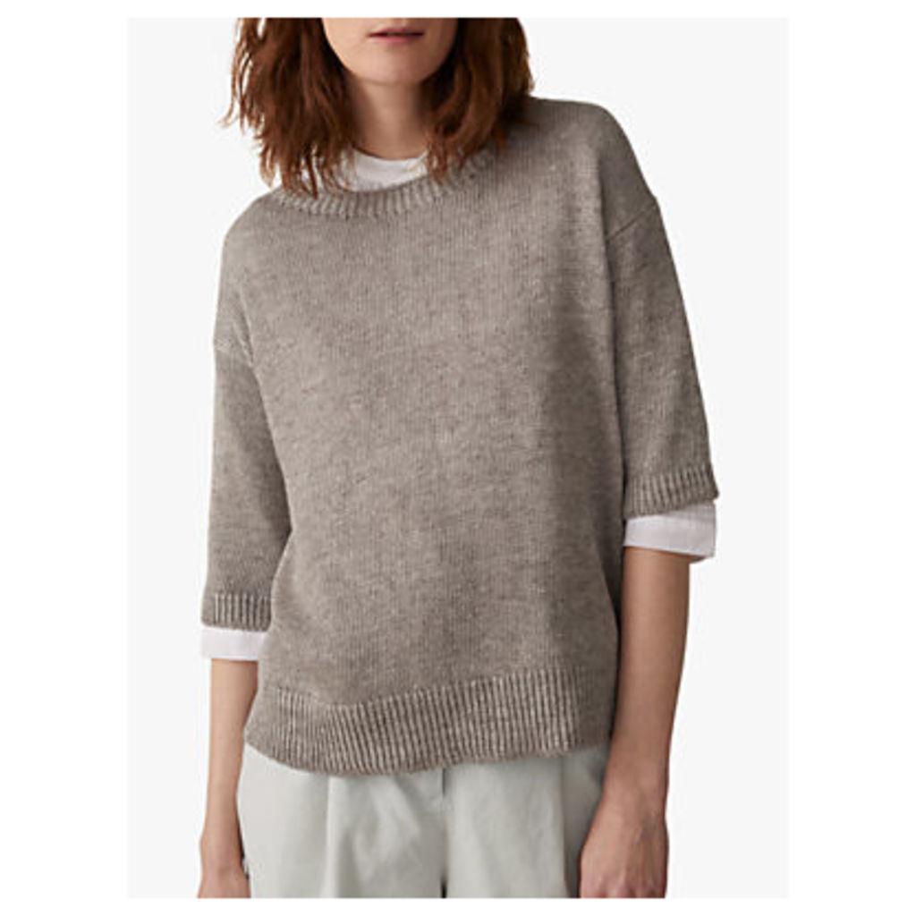 Toast Half Sleeve Linen Sweater
