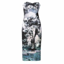 Louise Black - Sky Lantern Printed Midi Dress