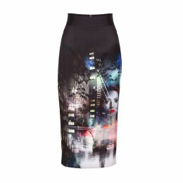 Louise Black - Starscope Printed Midi Skirt