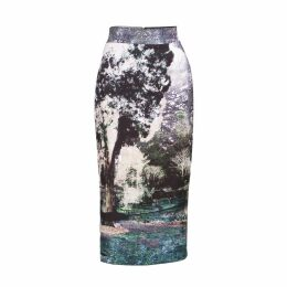 Louise Black - Trip To Paris Printed Midi Skirt