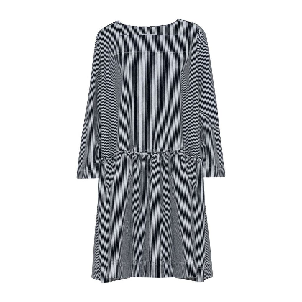 McVERDI - Loose Striped Denim Dress