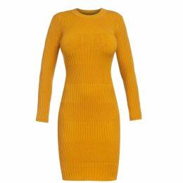 McVERDI - Loose Striped Denim Dress In Red