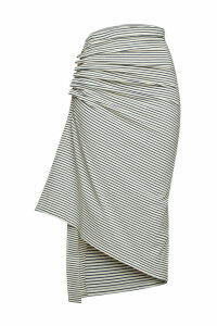 Paco Rabanne Stripe Cotton Midi Skirt