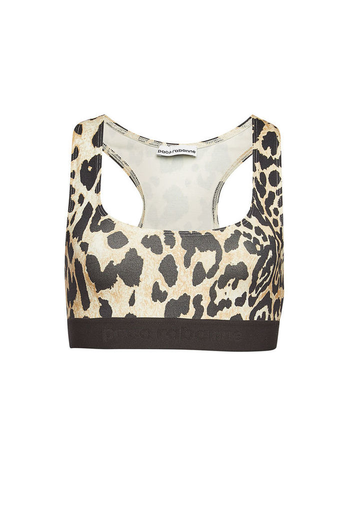 Paco Rabanne Printed Cropped Top with Racerback