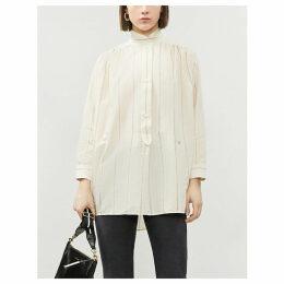 Talia rayee-print cotton-twill tunic
