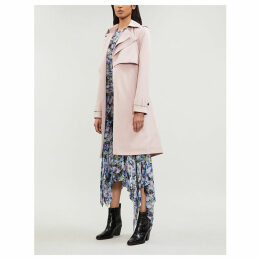 Drapey woven trench coat