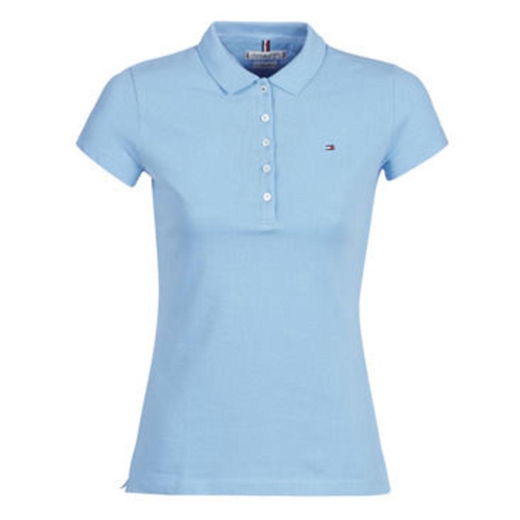 Tommy Hilfiger  NEW CHIARA STR PQ POLO SS  women's Polo shirt in Blue