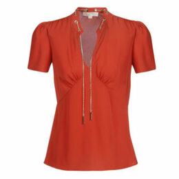 MICHAEL Michael Kors  GROMMET VNK CHAIN TOP  women's Blouse in Red