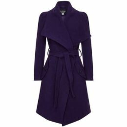 Anastasia  Winter Wool Cashmere Wrap Coat with Large Collar  women's Coat in Blue