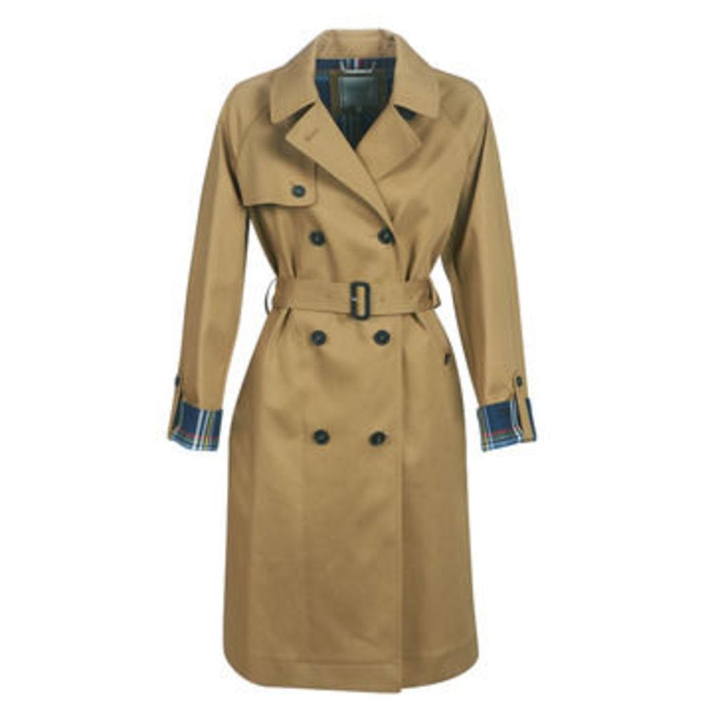 Tommy Hilfiger  MARILYN BONDED MAC COAT  women's Trench Coat in Beige