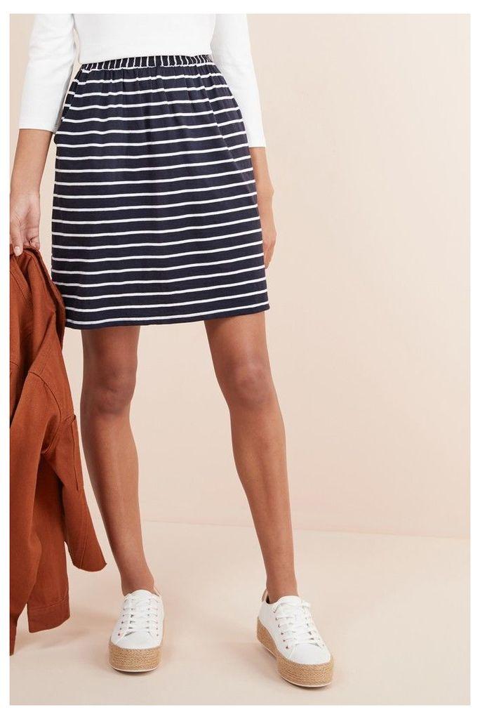 Womens Next Navy/White Flippy Skirt -  Blue