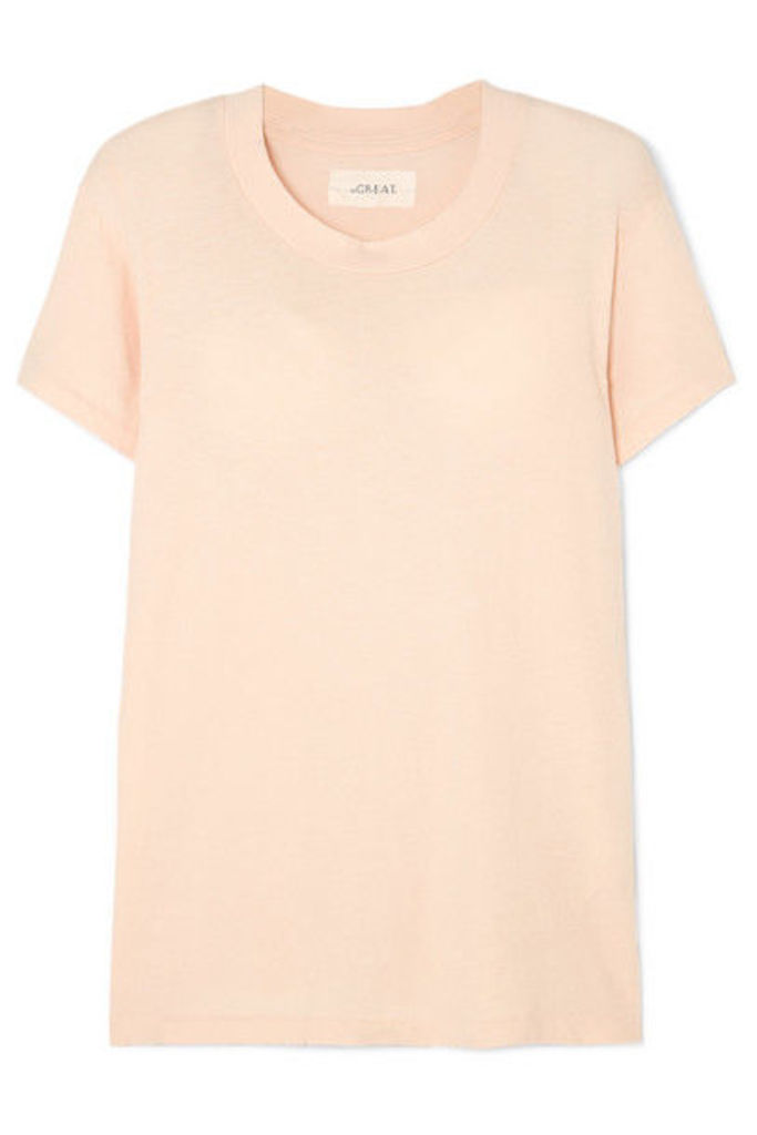 The Great - The Slim Cotton-jersey T-shirt - Pink