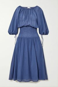 Marchesa Notte - Embellished Embroidered Tulle Midi Dress - Gold