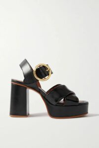 Anna Mason - Mademoiselle Tiered Cotton-chambray Skirt - Lilac