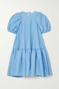 Borgo De Nor - Eliza Belted Tiered Printed Silk-twill Midi Dress - Ivory
