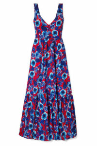 Borgo De Nor - Venetia Floral-print Crepe Maxi Dress - Blue