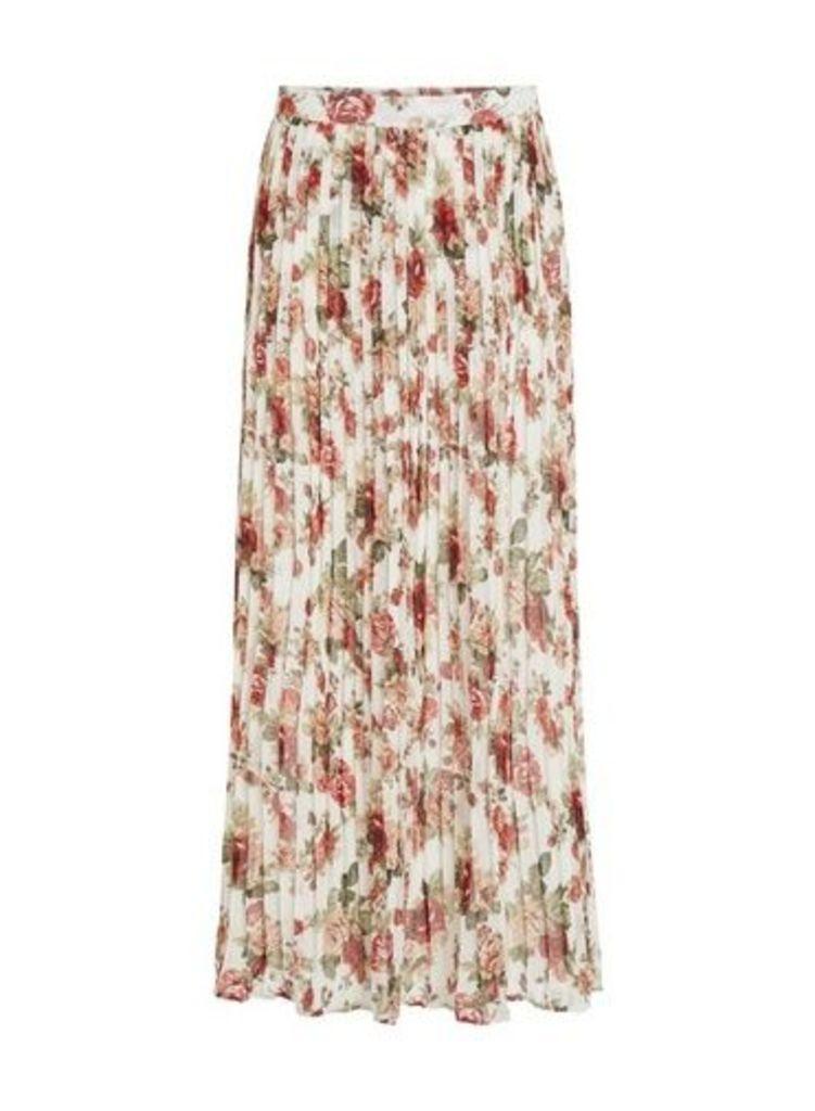 Womens **Vila Multi Colour Printed Maxi Skirt- Multi Colour, Multi Colour