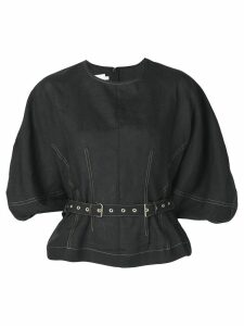 Marques'Almeida puff sleeve top - Black