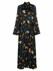 Solace London Akan floral print maxi-dress - Black