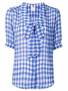 Ultràchic vichy print bow blouse - Blue