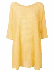 Apuntob textured gingham dress - Yellow