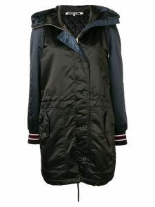 McQ Alexander McQueen contrast sleeve parka coat - Black