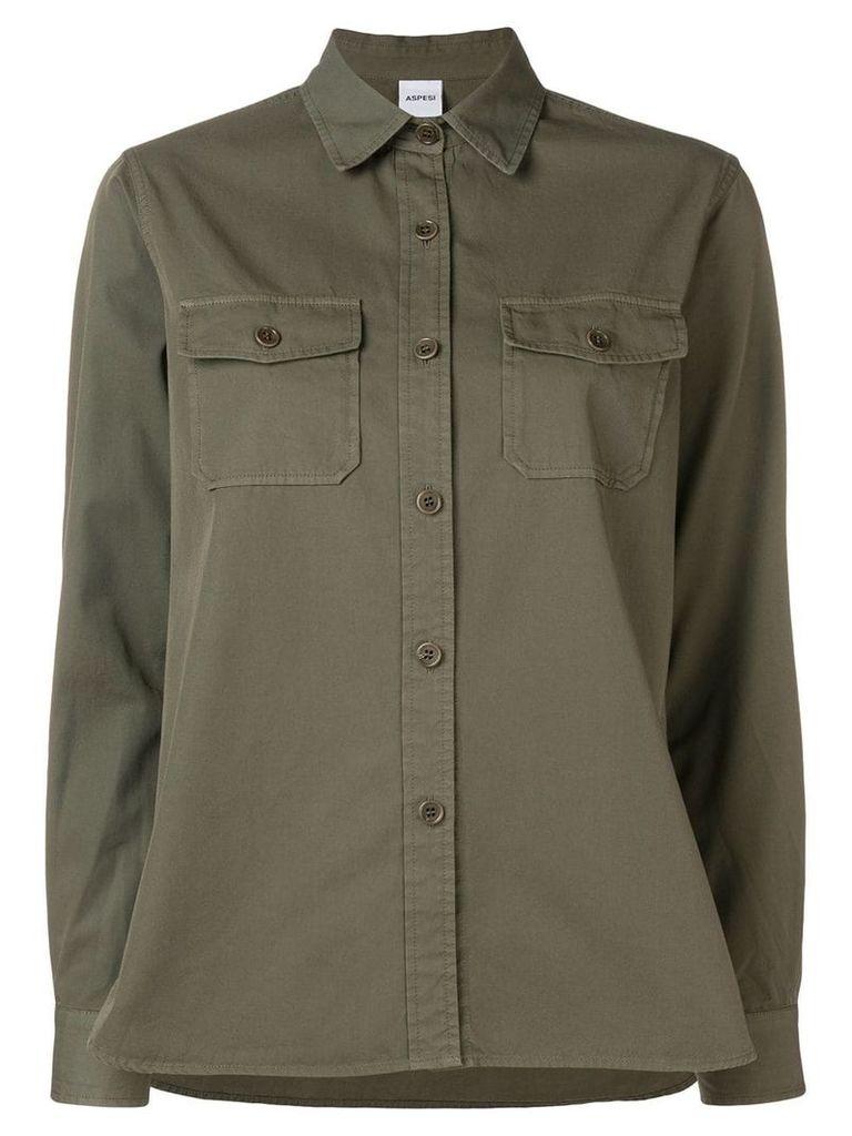Aspesi cargo shirt - Green