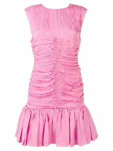 MSGM ruched panel flare dress - Pink