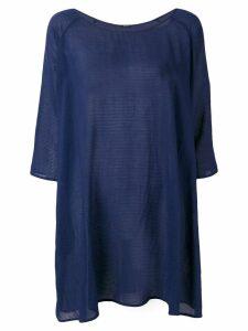 Apuntob textured stripe T-shirt dress - Blue