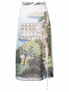 Altuzarra printed midi skirt - Blue