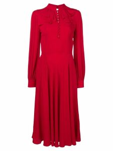 Nº21 frilled fitted dress - Red