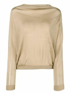 Zanone boat neck jumper - Neutrals