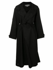 Jacquemus Stephano asymmetric coat - Black