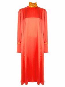 Roksanda ruffled neck dress - Orange