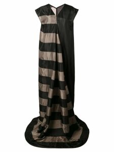 Rick Owens long striped gown - Black