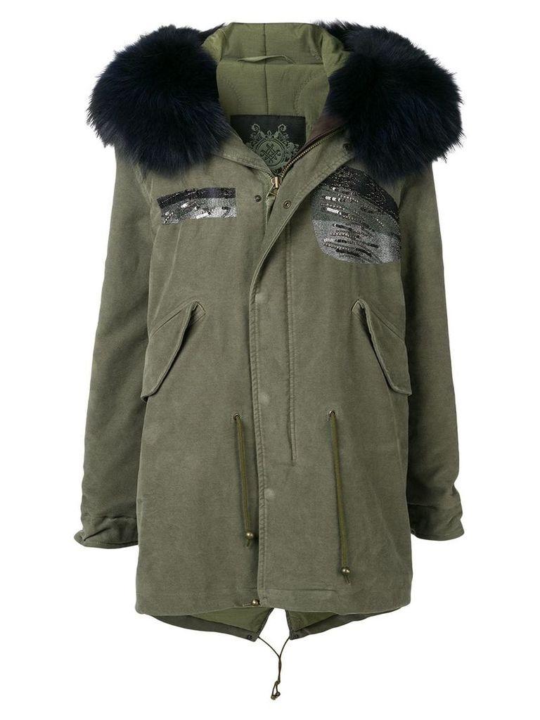 Mr & Mrs Italy mid-length parka coat - Green