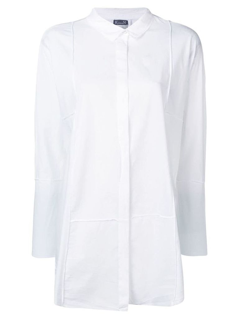 Kristensen Du Nord wrinkled effect button shirt - White