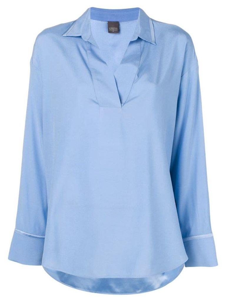 Lorena Antoniazzi loose-fit shirt - Blue