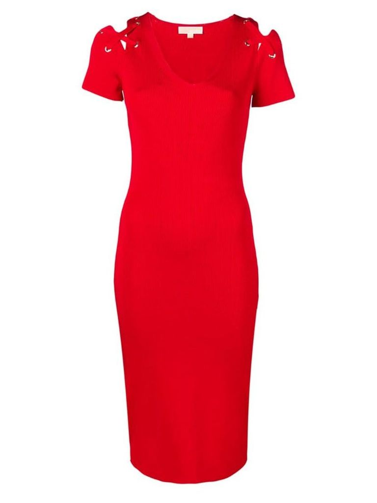 Michael Michael Kors fitted midi dress - Red