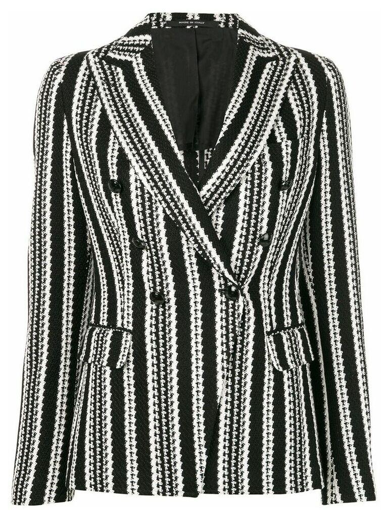 Tagliatore striped monochrome blazer - Black
