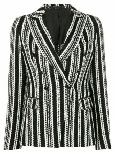 Tagliatore striped monochrome blazer - Black