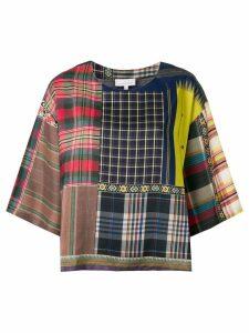 Pierre-Louis Mascia check print blouse - Blue